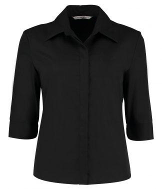 Kus. Kit Lds T/F Contin. Blouse Black 22 (K715 BLK 22)