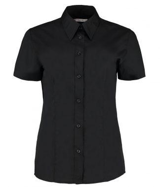 Kus. Kit Lds C/F S/S Work. Shirt Black 28 (K728 BLK 28)