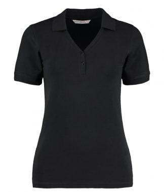 Kus. Kit Sophia V Neck Polo Black 18 (K732 BLK 18)