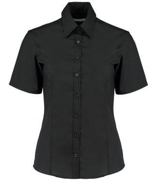 Kus. Kit Lds T/F S/S Business Shirt Black 28 (K742F BLK 28)