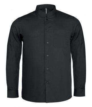 Kariban L/S Mandarin Collar Shirt Black XXL (KB515 BLK XXL)