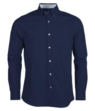 Kariban L/S Washed Poplin Shirt Navy XXL (KB517 NAV XXL)
