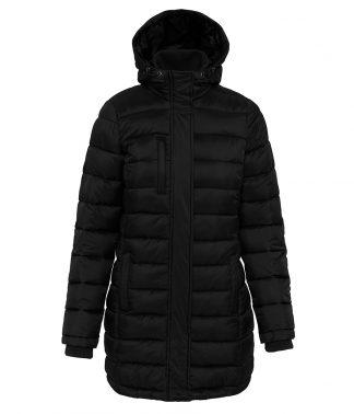 Kariban Lds L/W Long Padded Parka Black XL (KB6129 BLK XL)