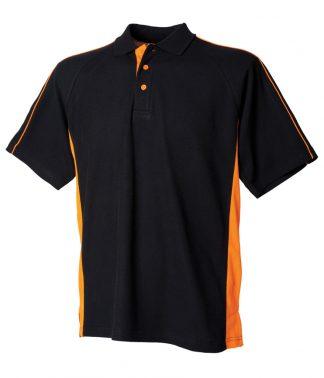 F/Hales Sports Polo Black/orange 3XL (LV322 BK/OR 3XL)