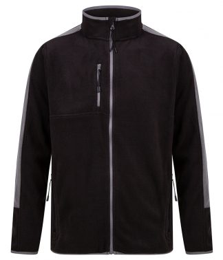 F/Hales Unisex Microfleece Jacket Black/gunmetal 3XL (LV580 BK/GT 3XL)