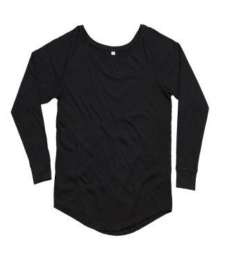 M97 - Mantis Ladies Loose Fit Long Sleeve T-Shirt - Black