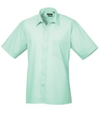 Premier Poplin S/S Shirt Aqua 19 (PR202 AQA 19)