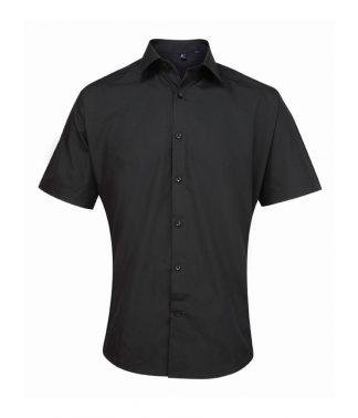 Premier Supreme S/S Poplin Shirt Black 19 (PR209 BLK 19)