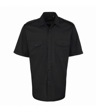 Premier Pilot S/S Shirt Black 19 (PR212 BLK 19)