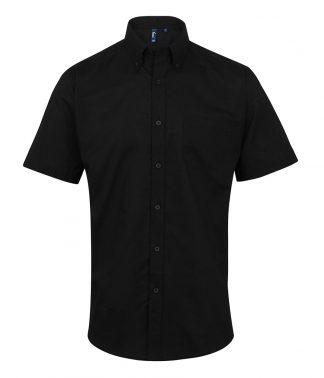 Premier Signature S/S Oxf. Shirt Black 19 (PR236 BLK 19)