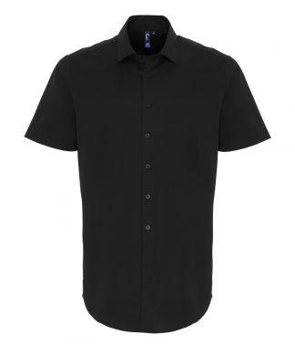 Premier S/S Stretch Fit Poplin Shirt Black 4XL (PR246 BLK 4XL)