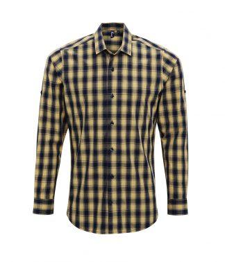 Premier Mulligan L/S Shirt Camel/navy 3XL (PR250 CA/NV 3XL)