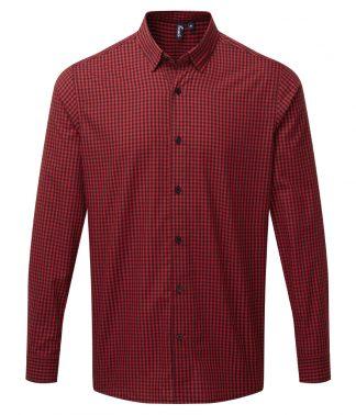 Premier L/S Maxton Check Shirt Black/red 3XL (PR252 BK/RD 3XL)