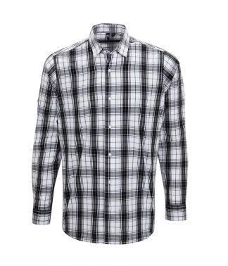 Premier Ginmill L/S Shirt Black/white 3XL (PR254 BK/WH 3XL)