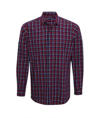 Premier Sidehill L/S Shirt Navy/red 3XL (PR256 NV/RD 3XL)
