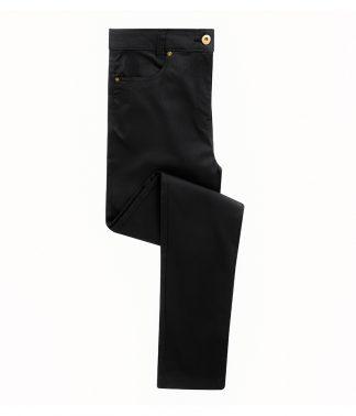 Premier Lds Performance Chino Jeans Black 24/L (PR570 BLK 24/L)