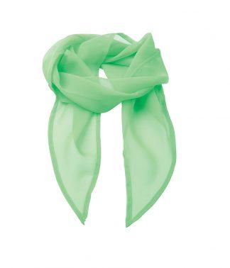 Premier Colours Chiffon Scarf Apple Green ONE (PR740 APL ONE)