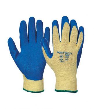 Portwest Cut 3 Latex Grip Gloves Blue XL (PW085 BLU XL)