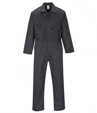 Portwest Liverpool-Zip Coveralls Black 3XL/R (PW134 BLK 3XL/R)