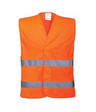 Portwest Hi-Vis Two Band Vest Orange 4XL/5XL (PW309 ORA 4XL/5XL)