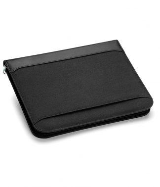 Quadra Burbank Zipper Portfolio Black ONE (QD802 BLK ONE)