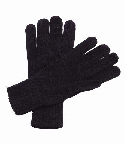 Regatta Knitted Gloves Black ONE (RG201 BLK ONE)