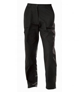 Regatta Ladies Action Trousers Black 20/L (RG235 BLK 20/L)