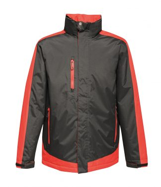 Regatta Contrast Ins. Jacket Blk/cl. red 4XL (RG421 BK/CS 4XL)