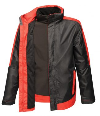 Regatta Contrast 3in1 Jacket Blk/cl. red 4XL (RG425 BK/CS 4XL)