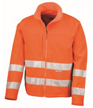 Result High-Viz Softshell Jacket Fl. orange 3XL (RS117 FLO 3XL)