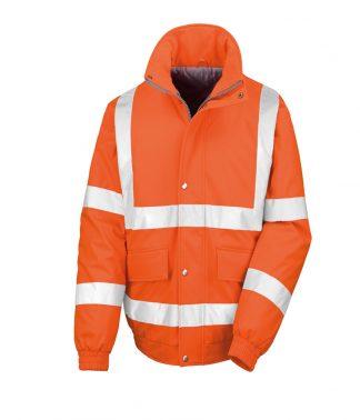 Result Safeguard Padded Softshell Jkt Fl. orange S (RS333 FLO S)