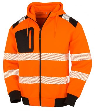 Res. Recycled Robust Safety Zip Hoody Fl. orange 3XL (RS503 FLO 3XL)