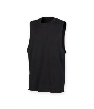 SFMen H. Neck /Armhole Vest Black XXL (SF232 BLK XXL)
