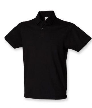 SFMen Stretch Pique Polo Shirt Black XXL (SF42 BLK XXL)