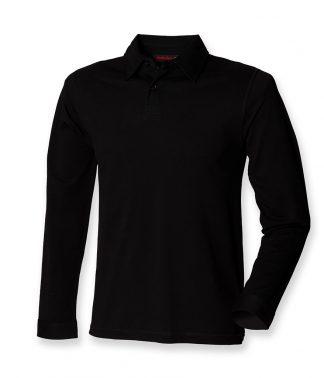 SFMen Long Sleeve Stretch Polo Black XXL (SF44 BLK XXL)