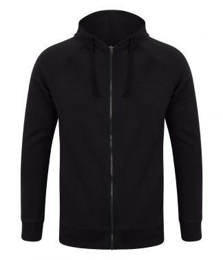 SFMen Unisex Slim Fit Zip Hoody Black XXL (SF526 BLK XXL)