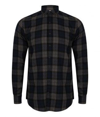 SFMen Casual Check Shirt Navy XXL (SF560 NAV XXL)