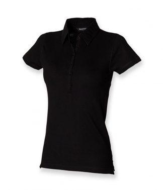 SF Lds Pique Polo Shirt Black XL (SK42 BLK XL)