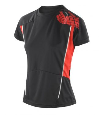 Spiro Ladies Training Shirt Black/red XL/16 (SR176F BK/RD XL/16)