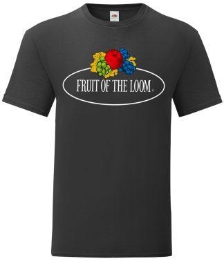 Fruit Loom Large Logo Vintage T Black XXL (SS01R BLK XXL)