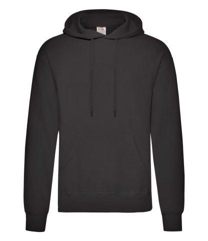 Fruit Loom Hooded Sweatshirt Black 5XL (SS14 BLK 5XL)