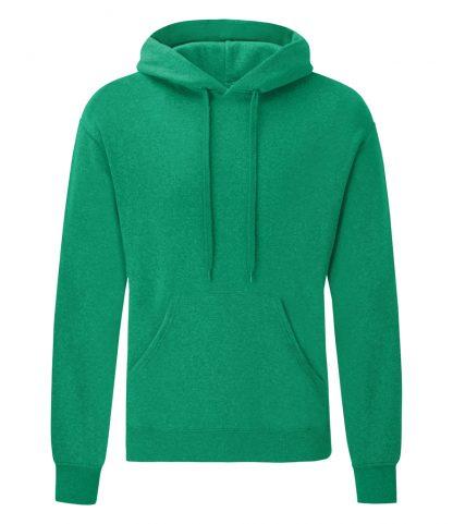 Fruit Loom Hooded Sweatshirt Heather green XXL (SS14 HGN XXL)