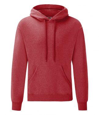 Fruit Loom Hooded Sweatshirt Heather red XXL (SS14 HRD XXL)