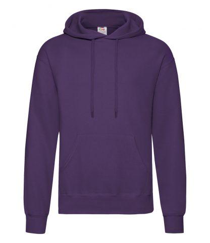 Fruit Loom Hooded Sweatshirt Purple XXL (SS14 PUR XXL)