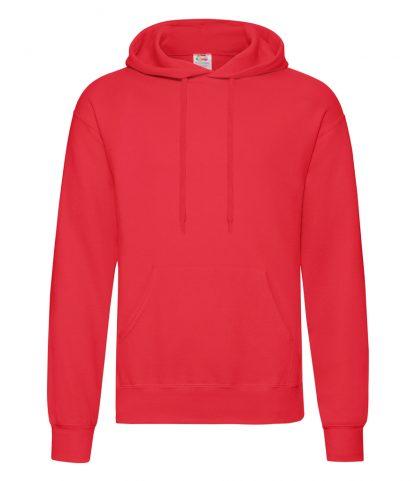 Fruit Loom Hooded Sweatshirt Red 3XL (SS14 RED 3XL)