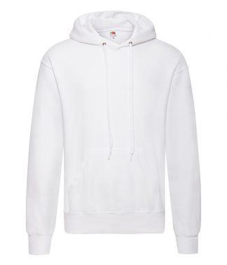 Fruit Loom Hooded Sweatshirt White 4XL (SS14 WHI 4XL)