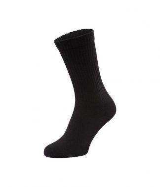 Fruit Loom Crew Socks 3pk Black L (SS320 BLK L)