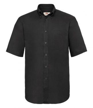 Fruit Loom S/S Oxford Shirt Black 3XL (SS401 BLK 3XL)