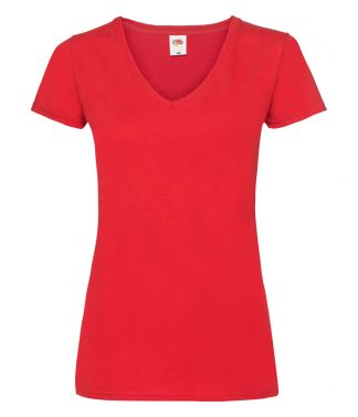 Fruit Loom Ladies V/weight V Nk T Red XXL (SS702 RED XXL)