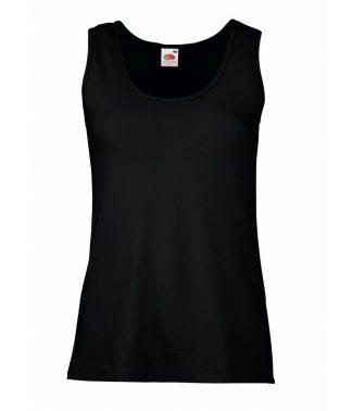 Fruit Loom Ladies Valueweight Vest Black XXL (SS704 BLK XXL)